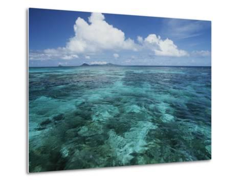 Shallow Blue Water Stretches to the Horizon-Michael Melford-Metal Print