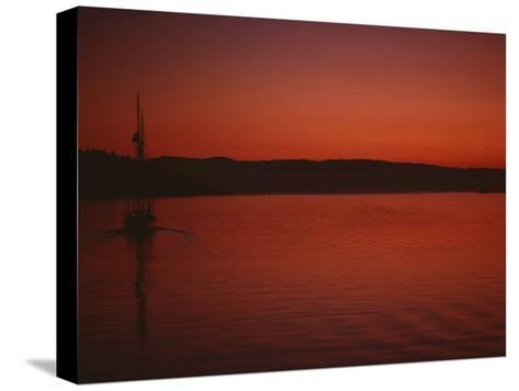 A Beautiful Red Twilight Settles over the Olympic Peninsula-Sam Abell-Stretched Canvas Print