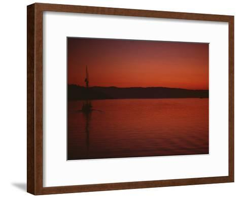 A Beautiful Red Twilight Settles over the Olympic Peninsula-Sam Abell-Framed Art Print