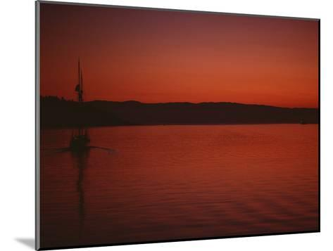 A Beautiful Red Twilight Settles over the Olympic Peninsula-Sam Abell-Mounted Photographic Print