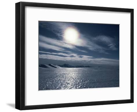 A Bare Ice Glacier Near the Southern Ellsworth Mountains-Gordon Wiltsie-Framed Art Print