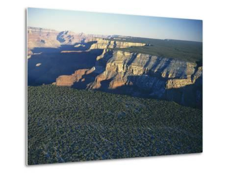 Aerial View of Kaibab National Forest at the Grand Canyon Rim-Norbert Rosing-Metal Print
