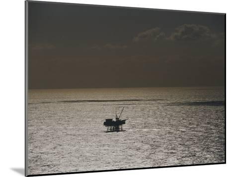 Oil Rig at Sunset-Jason Edwards-Mounted Photographic Print
