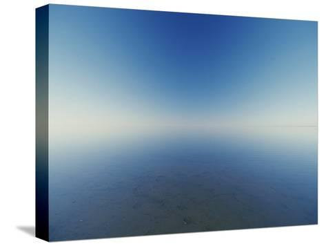 Reflection of Flooded Lake Eyre at Dawn-Jason Edwards-Stretched Canvas Print