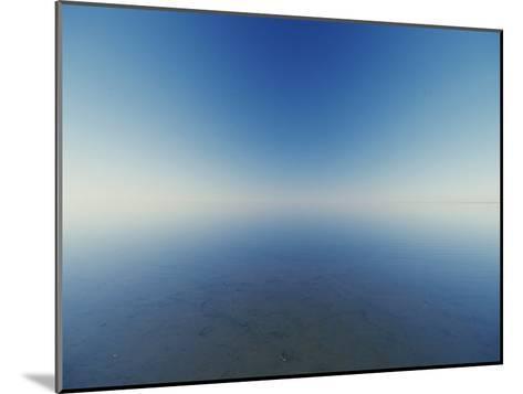 Reflection of Flooded Lake Eyre at Dawn-Jason Edwards-Mounted Photographic Print