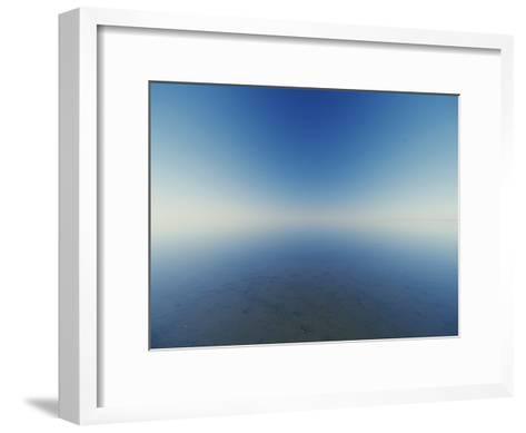 Reflection of Flooded Lake Eyre at Dawn-Jason Edwards-Framed Art Print