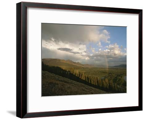 Clouds and Rainbow over Thoroughfare and Southeast Arm of Yellowstone Lake-Tom Murphy-Framed Art Print