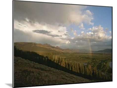 Clouds and Rainbow over Thoroughfare and Southeast Arm of Yellowstone Lake-Tom Murphy-Mounted Photographic Print