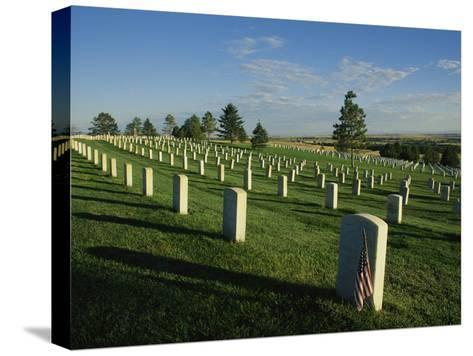 Cemetery, Little Bighorn Battlefield National Monument, Montana-Michael S^ Lewis-Stretched Canvas Print