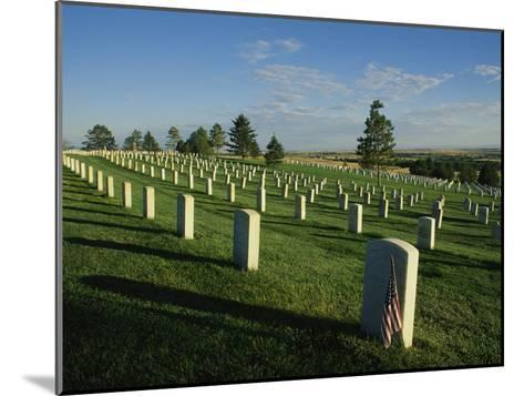 Cemetery, Little Bighorn Battlefield National Monument, Montana-Michael S^ Lewis-Mounted Photographic Print