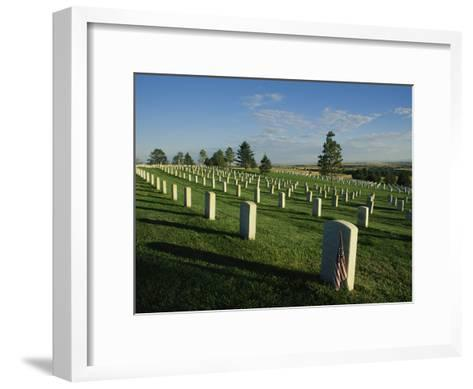 Cemetery, Little Bighorn Battlefield National Monument, Montana-Michael S^ Lewis-Framed Art Print