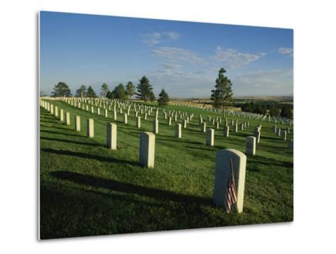 Cemetery, Little Bighorn Battlefield National Monument, Montana-Michael S^ Lewis-Metal Print