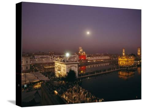 Night View of Amritsar-James P^ Blair-Stretched Canvas Print