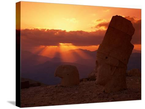 Sunset, Temple of King Antichus, Turkey-Michele Burgess-Stretched Canvas Print
