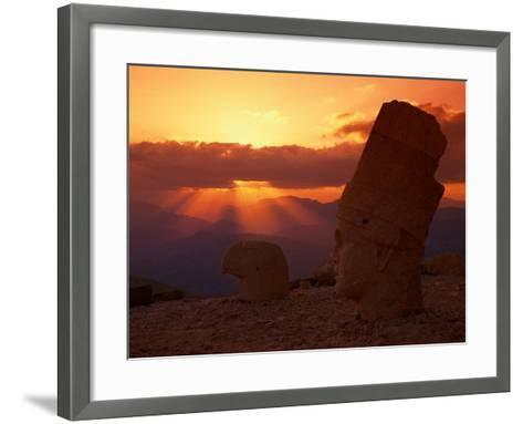 Sunset, Temple of King Antichus, Turkey-Michele Burgess-Framed Art Print