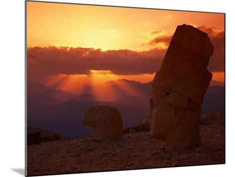 Sunset, Temple of King Antichus, Turkey-Michele Burgess-Mounted Photographic Print