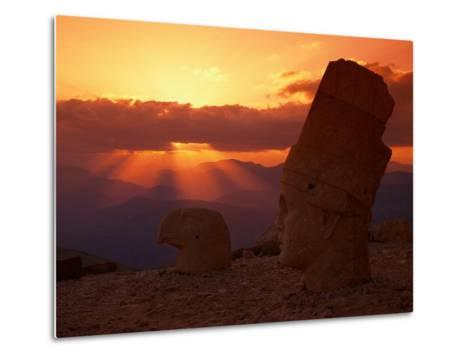 Sunset, Temple of King Antichus, Turkey-Michele Burgess-Metal Print