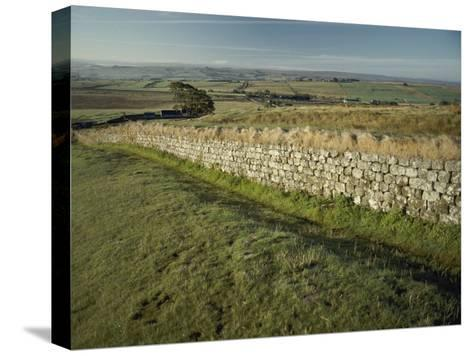 Hadrians Wall Looking East-Bill Curtsinger-Stretched Canvas Print