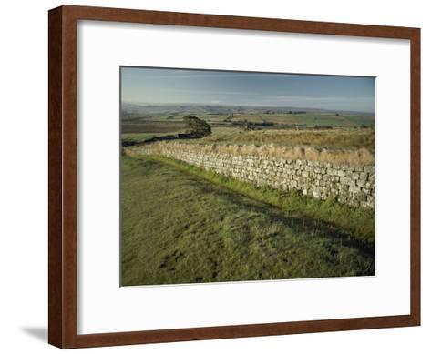 Hadrians Wall Looking East-Bill Curtsinger-Framed Art Print