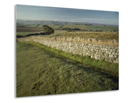 Hadrians Wall Looking East-Bill Curtsinger-Metal Print