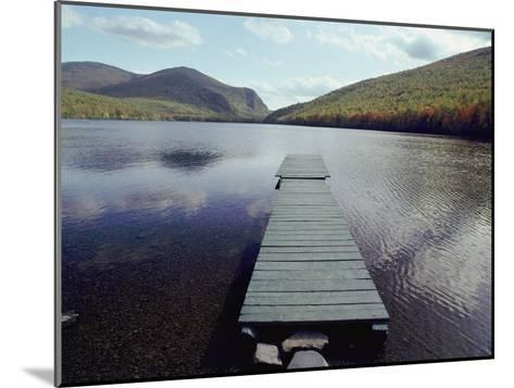 A Scenic View of a Dock on a Lake-Bill Curtsinger-Mounted Photographic Print