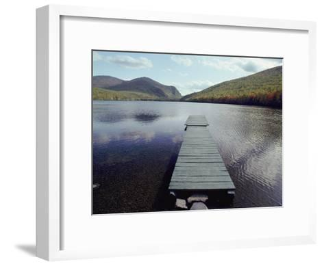 A Scenic View of a Dock on a Lake-Bill Curtsinger-Framed Art Print