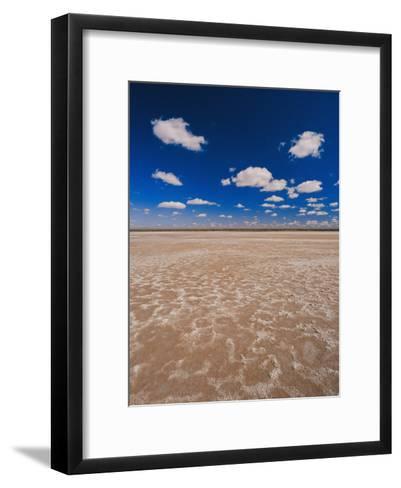 A Vivid Blue Sky Above Sand and Shallow Water-Jason Edwards-Framed Art Print