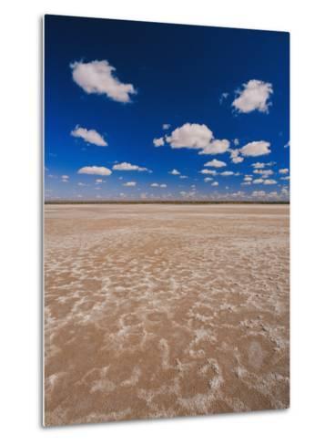 A Vivid Blue Sky Above Sand and Shallow Water-Jason Edwards-Metal Print