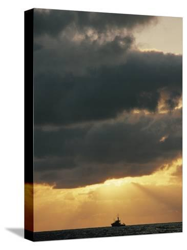 The Sun Shines Through the Clouds over the Atlantic Ocean-Emory Kristof-Stretched Canvas Print