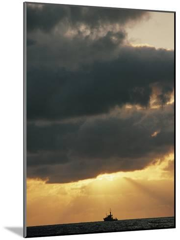 The Sun Shines Through the Clouds over the Atlantic Ocean-Emory Kristof-Mounted Photographic Print