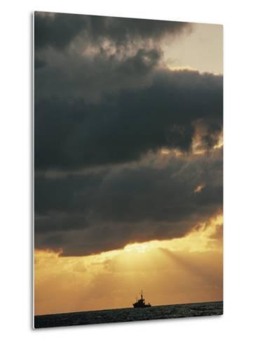 The Sun Shines Through the Clouds over the Atlantic Ocean-Emory Kristof-Metal Print