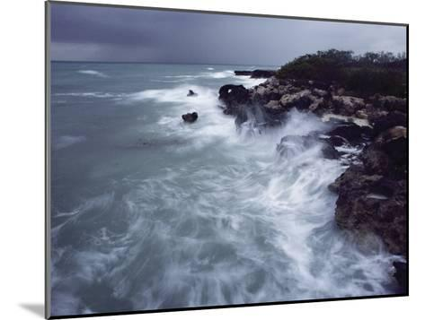 Surf Lashes a Rocky Shore-James L^ Stanfield-Mounted Photographic Print