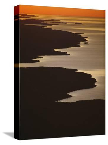 Neighboring Islands Lucille, Foreground, and Susie Fringe Lake Superior-Phil Schermeister-Stretched Canvas Print