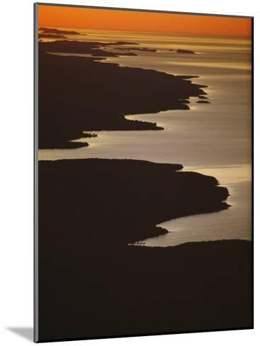 Neighboring Islands Lucille, Foreground, and Susie Fringe Lake Superior-Phil Schermeister-Mounted Photographic Print