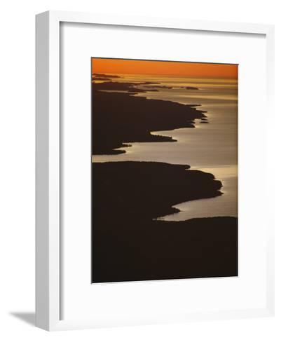 Neighboring Islands Lucille, Foreground, and Susie Fringe Lake Superior-Phil Schermeister-Framed Art Print