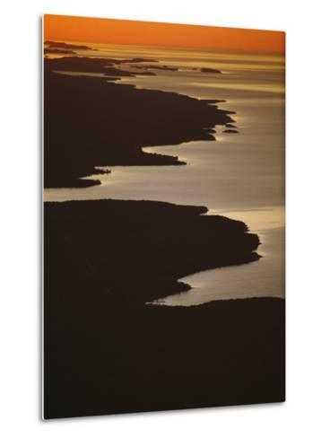 Neighboring Islands Lucille, Foreground, and Susie Fringe Lake Superior-Phil Schermeister-Metal Print