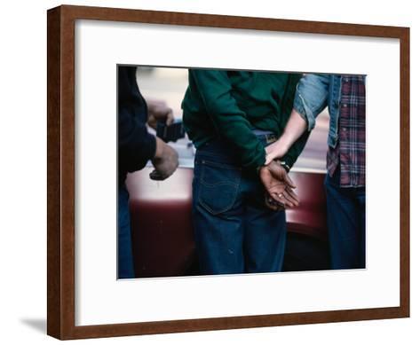 Police Make an Arrest in an Open-Air Drug Market in the Nation's Capital-Steve Raymer-Framed Art Print