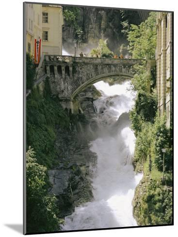 Footbridge over a Waterfall in Badgastein-Walter Meayers Edwards-Mounted Photographic Print