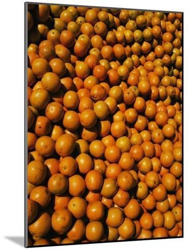 Huge Crates of Sun-Ripened Oranges at a Florida Fruit Stand-Stephen St^ John-Mounted Photographic Print