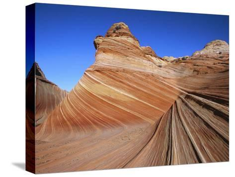 Erosion Has Created a Swirling Pattern in the Sandstone Rock-Melissa Farlow-Stretched Canvas Print