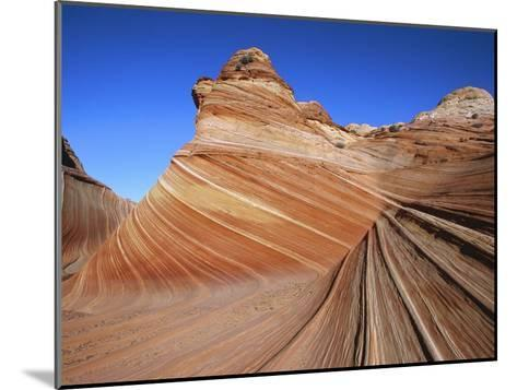 Erosion Has Created a Swirling Pattern in the Sandstone Rock-Melissa Farlow-Mounted Photographic Print