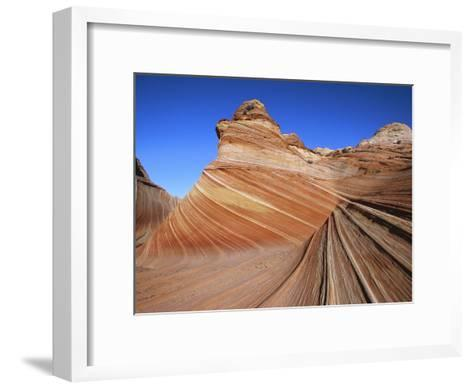 Erosion Has Created a Swirling Pattern in the Sandstone Rock-Melissa Farlow-Framed Art Print