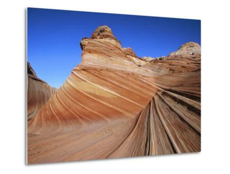 Erosion Has Created a Swirling Pattern in the Sandstone Rock-Melissa Farlow-Metal Print