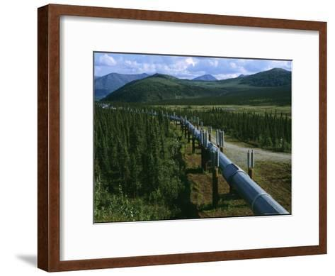 The Trans-Alaska Pipeline Runs Through the Alaskan Wilderness-Melissa Farlow-Framed Art Print