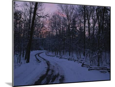Dawn View of a Snow-Covered Road-George F^ Mobley-Mounted Photographic Print