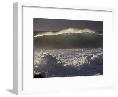 Surf Pounds a Beach in Hawaii-Marc Moritsch-Framed Art Print