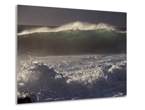 Surf Pounds a Beach in Hawaii-Marc Moritsch-Metal Print