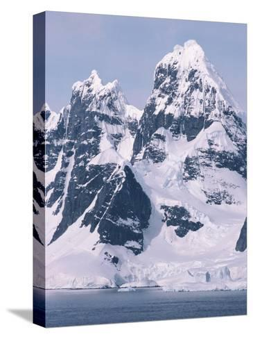 Snow-Covered Mountains on Wienke Island, off the Antarctic Peninsula-Gordon Wiltsie-Stretched Canvas Print