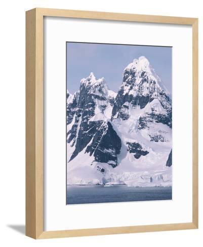 Snow-Covered Mountains on Wienke Island, off the Antarctic Peninsula-Gordon Wiltsie-Framed Art Print