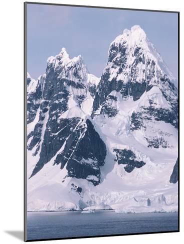 Snow-Covered Mountains on Wienke Island, off the Antarctic Peninsula-Gordon Wiltsie-Mounted Photographic Print